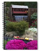 Garden Miniature Train Spiral Notebook