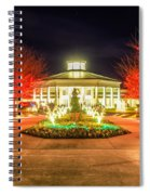 Garden Night Scene At Christmas Time In The Carolinas Spiral Notebook