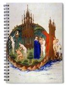 Garden Of Eden: Adam & Eve Spiral Notebook