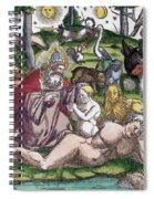 Garden Of Eden Historiae Animalium Spiral Notebook
