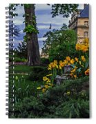 Sunset At Garden Of Les Invalides Spiral Notebook