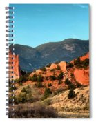 Garden Of The Gods Sunrise Panorama Spiral Notebook