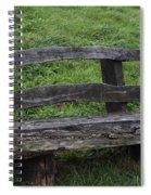 Garden Park Bench Spiral Notebook