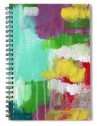 Garden Path- Abstract Expressionist Art Spiral Notebook