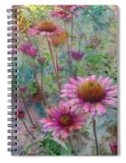 Garden Pink And Abstract Painting Spiral Notebook
