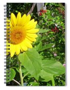 Garden Sunflower Spiral Notebook