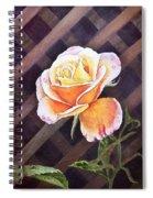 Garden Tea Rose Spiral Notebook