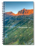 Garden Wall Sunset Spiral Notebook