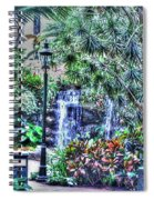 Garden Waterfall Spiral Notebook