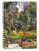 Garden With A Bridge Spiral Notebook