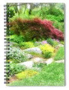 Garden With Japanese Maple Spiral Notebook