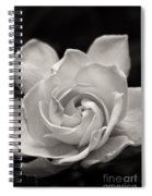 Gardenia Bloom In Sepia Spiral Notebook