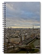 Gargoyle And The Eiffel Tower Spiral Notebook