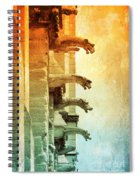 Gargoyles With Textures And Color Spiral Notebook
