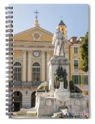 Garibaldi Monument In Nice France Spiral Notebook