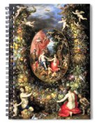 Garland Of Fruit And Flowers Spiral Notebook