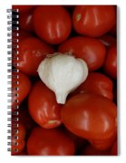 Garlic And Tomatoes Spiral Notebook