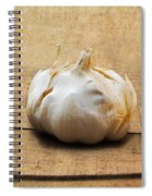 Garlic On Old Barrel Board Spiral Notebook