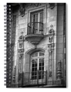Garrison Hall Window Ut Bw Spiral Notebook