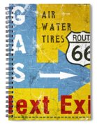 Gas Next Exit- Route 66 Spiral Notebook