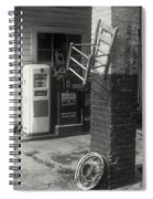 Gas Station Abstract Spiral Notebook