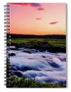 Gaski Waterfall, Grafarlandaa River Spiral Notebook