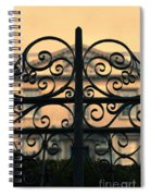 Gate In Front Of Mansion Spiral Notebook