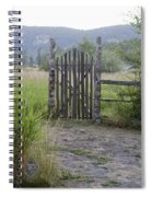 Gate To Peaceful Paradise Spiral Notebook