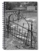 Gated Community In Black And White Spiral Notebook