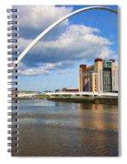 Gateshead Millenium Bridge In Newcastle 6206 Spiral Notebook