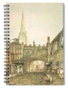 Gateway To The Close, Salisbury Spiral Notebook