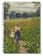 Gathering Wild Flowers  Spiral Notebook