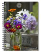 Gathering Wildflowers Spiral Notebook