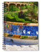 Gaudi's Park Guell - Impressions Of Barcelona Spiral Notebook