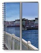 Gazebo 02 Disney World Boardwalk Boat Passing By 2 Panel Spiral Notebook