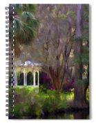 Gazebo At Magnolia Gardens Spiral Notebook