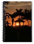 Gazebo Silhouette Spiral Notebook