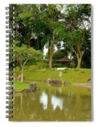 Gazebo Trees Lake And Rock Garden In Singapore Chinese Gardens Spiral Notebook