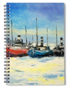 Gdynia Harbour - Winter Spiral Notebook