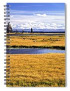 Geese At Yellowstone Lake Spiral Notebook