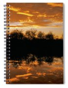 Geese Fly In The Sunset Spiral Notebook