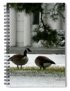 Geese In Snow Spiral Notebook