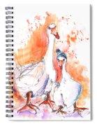 Geese In Spanish Winter Spiral Notebook