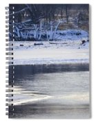 Geese On Ice Spiral Notebook