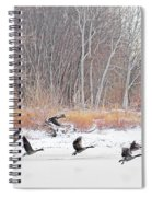 Geese Over Maumee River Spiral Notebook