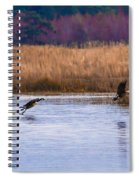 Geese Up And Away Spiral Notebook