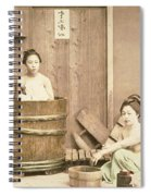 Geishas Bathing Spiral Notebook
