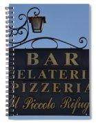 Gelateria Pizzeria Spiral Notebook