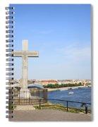 Gellert Hill Cross In Budapest Spiral Notebook