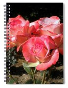 Gemini Tea Rose Spiral Notebook